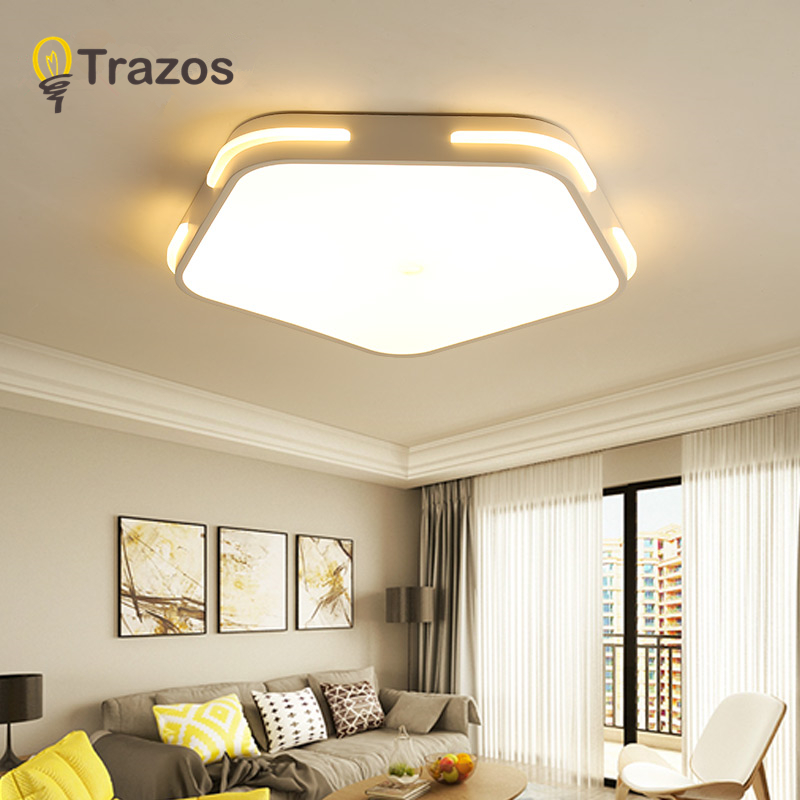 Modern Led Ceiling Lights For Living Room Bedroom Black Ceiling Lamp surface mounted lampara lustre avize Lighting Fixtures
