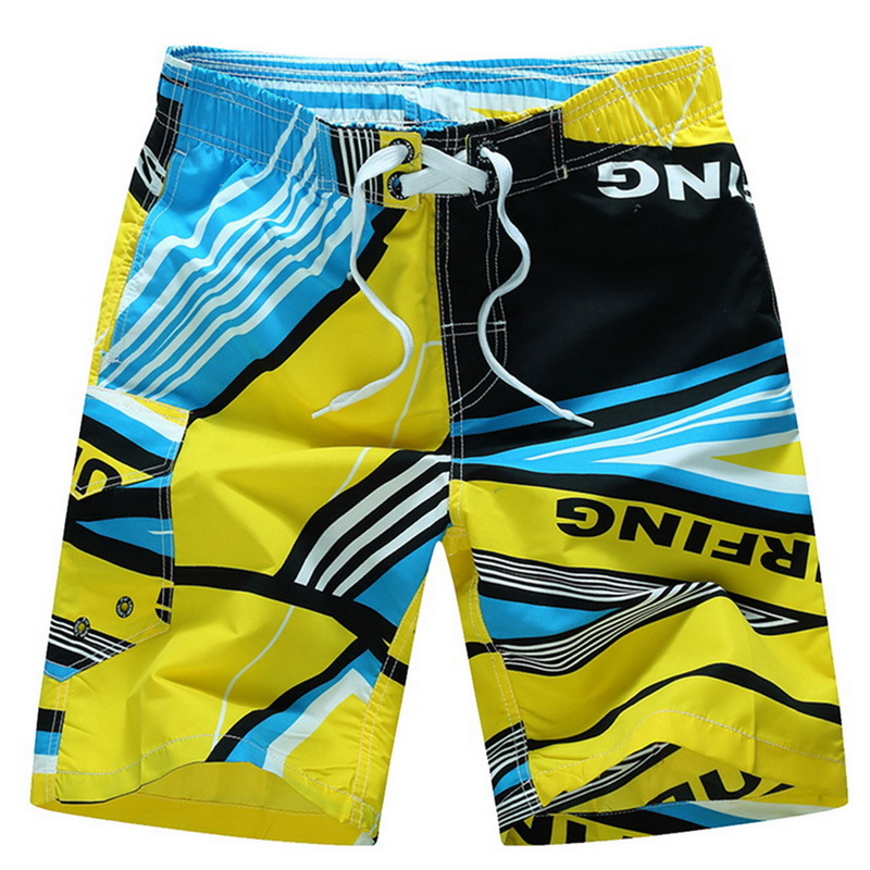 Litthing Summer Wholesale Men Board Beach Brand   Shorts   Surfing Sports Bermudas Masculina Print Men Quick Dry Boardshorts