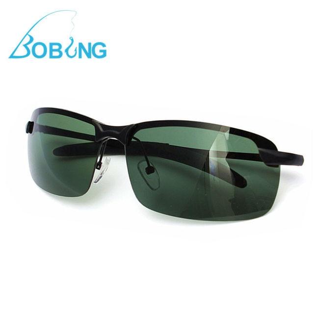 88560a0c55 Bobing Outdoor Sports Anti UV Fishing Sunglasses Dark Green Metal Frame  Polarized Sunglasses Fishing Eyewear