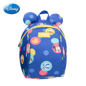 Disney Leashes-Bag Schoolbag Anti-Lost-Backpack Toddler Mickey Minnie Wrist-Link Walking-Strap