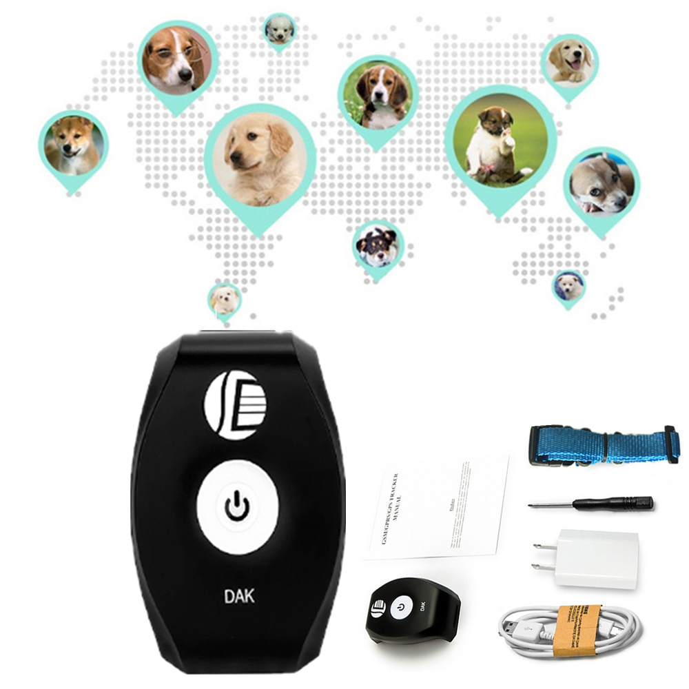 Traqueur de GPS de Mini pour le chat de chien d'animal familier traqueur imperméable de GPS localisateur d'alarme de Vibration traqueur de GPS avec le chargeur et la corde GSM/GPRS