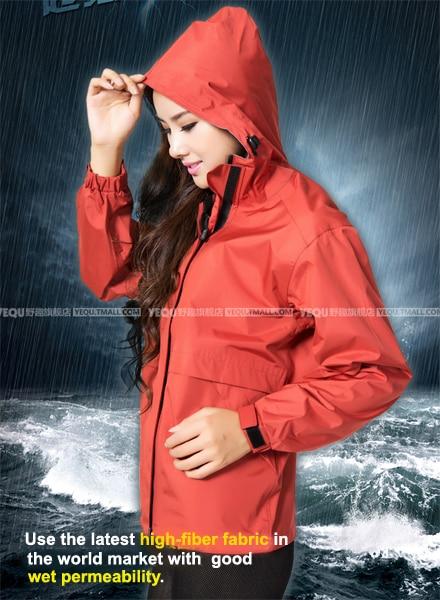 Red rain parka