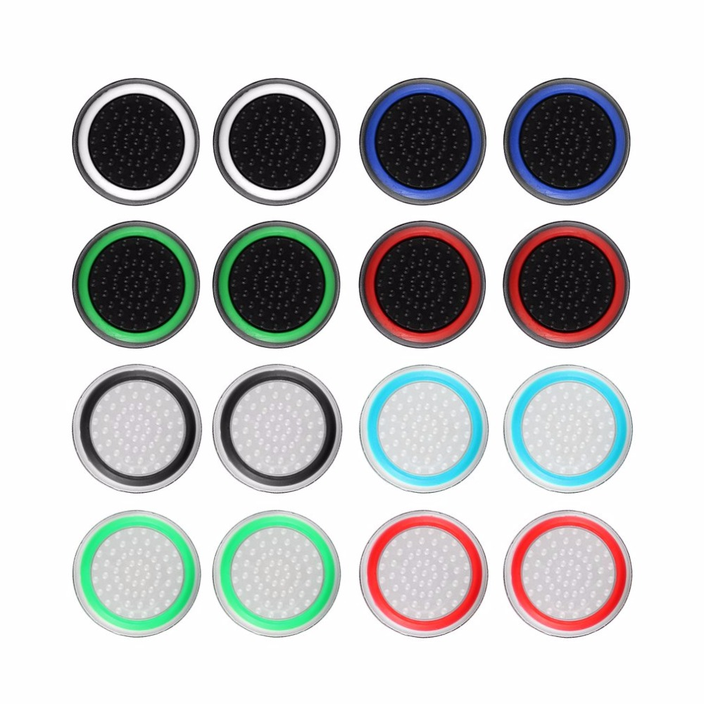 Obraz przedstawiający 2pcs/lot Game Accessory Protect Cover Silicone Thumb Stick Grip Caps for PS4/3 for Xbox 360/for Xbox one Game Controllers