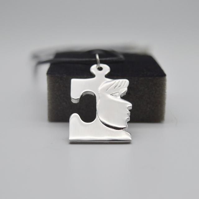 10pcs Puzzle Piece Autism Necklace For Women Men Charm Tiny Necklace Delicate Minimalist Necklace Autism Awareness Jewelry SGL26