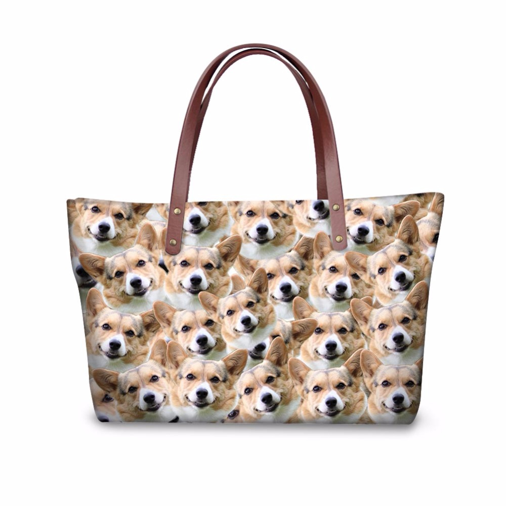 Noisydesigns Puzzle animal Pattern Shoulder Bag Big gorjuss bag Women Hand Bag Beach Totes Travel Tote Sac a main Wholesale
