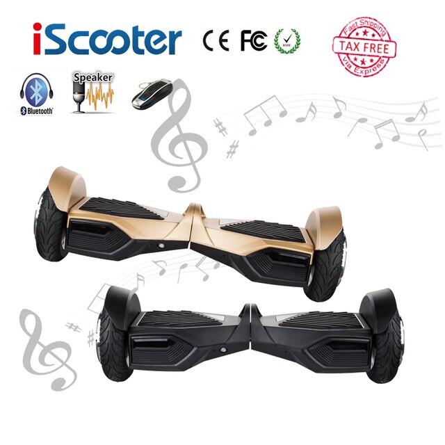 IScooter UL2272 Hoverboard 2 Колеса 10 дюймов Электрический Скейтборд Разумный Баланс Bluetooth Скутер Стоял Ролика Наведите Доска
