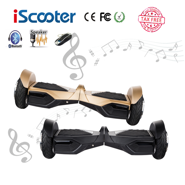 iScooter UL2272 Hoverboard 2 Wheel 10 inch Electric Skateboard Smart Balance Bluetooth Scooter Standing Roller Hover Board