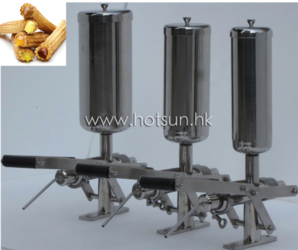 Stainless Steel 5L Manual Spainish Churros Filler,churro filling machine nozzle of filling machine dosing filler nozzle 4mm 6mm 8mm 10mm 12mm for slect ss304 stainless steel filling device