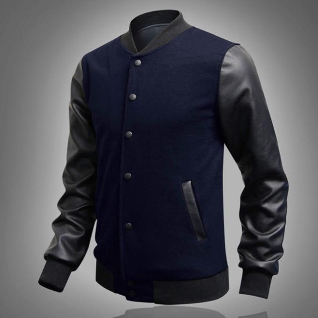 low priced 69064 8321c US $17.2 |Abbigliamento maschile Giacca Da Baseball Da Uomo Felpa Collegio  Abbigliamento Sportivo Giacche Casual Slim Fit Giacca Uomo Abbigliamento in  ...