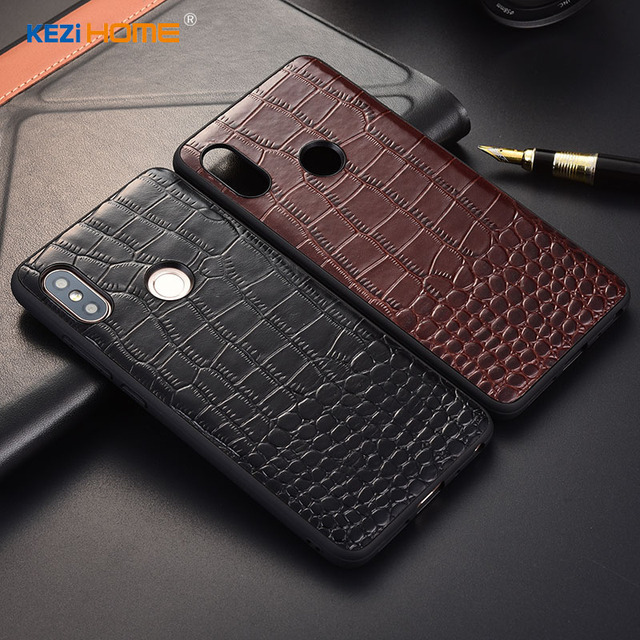 best service d53c1 f15c7 US $8.99 10% OFF|Case for Xiaomi Redmi Note 5 KEZiHOME Luxury Crocodile  texture Genuine leather back cover for Redmi Note5 Pro 5.99'' Phone  cases-in ...