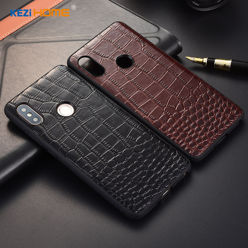 Case for Xiaomi Redmi Note 5 KEZiHOME Luxury Crocodile texture Genuine leather back cover for Redmi Note5 Pro 5.99'' Phone cases