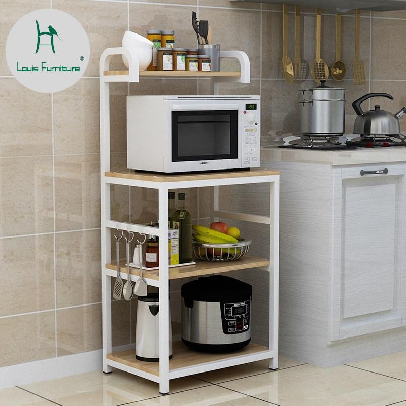 louis fashion kitchen islands microwave oven landing multi storey storage storage oven rack vegetable table multi function