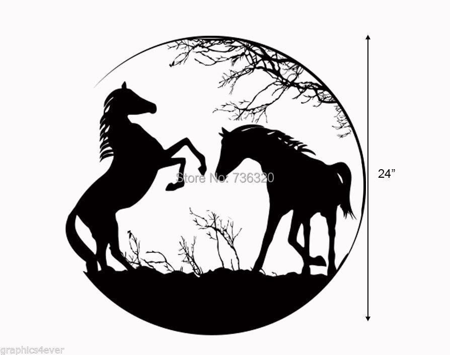 Horses DECAL -LARGE 24