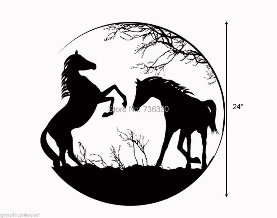 Pferde AUFKLEBER GROßE 24