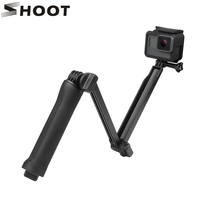 Action Camera Waterproof 3 Way Grip Monopod Mount For GoPro Hero 5 3 4 Session SJCAM
