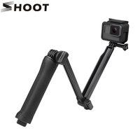 Action Camera Waterproof 3 Way Grip Monopod Mount For GoPro Hero 5 3 4 Session SJCAM