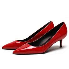 2019 New Sheepskin Leather Women Med High Heels Pumps Women Office Ladies Pointed Toe Sexy Heels Black Size 34-42 E0065 тонометр b well med 57