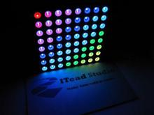 Free shipping,New RGB LED Dot Matrix 60mm 8*8 Full Color Common anode CA
