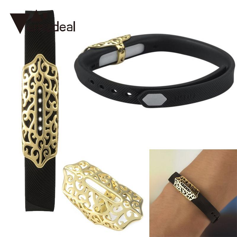 Amzdeal Outdoor Metal Smart Bracelet Band Holder Case For Fitbit Flex2 Watch Wristband Tool