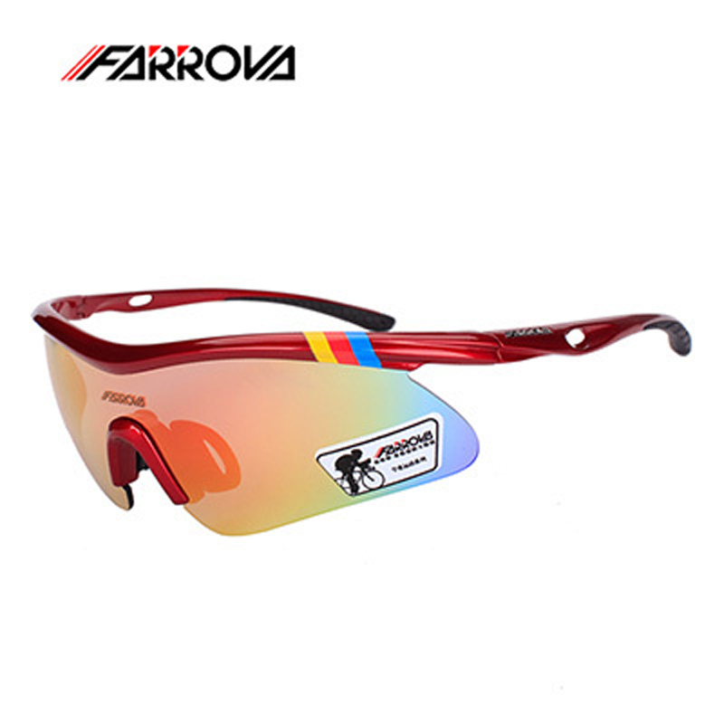 FARROVA Brand Sports Men Polarized Sunglasses UV400 Outdoor Cycling Glasses Mtb Mountain Bike Sports Goggles Sun Glasses obaolay outdoor cycling sunglasses polarized bike glasses 5 lenses mountain bicycle uv400 goggles mtb sports eyewear for unisex