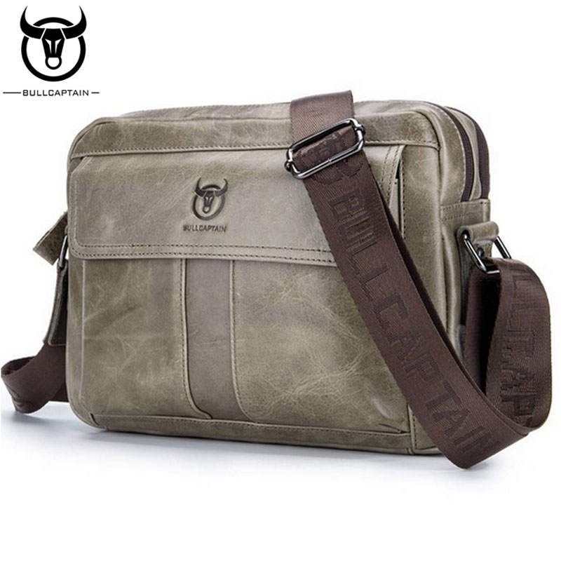 BULLCAPTAIN Man Genuine Leather Bag Briefcase Crossbody Messenger Shoulder Bags Casual Business famous brand Leather Bag videng polo famous brand men leather handbag casual vintage messenger bag classic business briefcase man crossbody shoulder bags