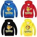 Marca Neat pokemon ir hoodies manga Longa crianças da criança roupas Meninos roupas de estilo fresco confortável traje meninos hoodies 3878 #