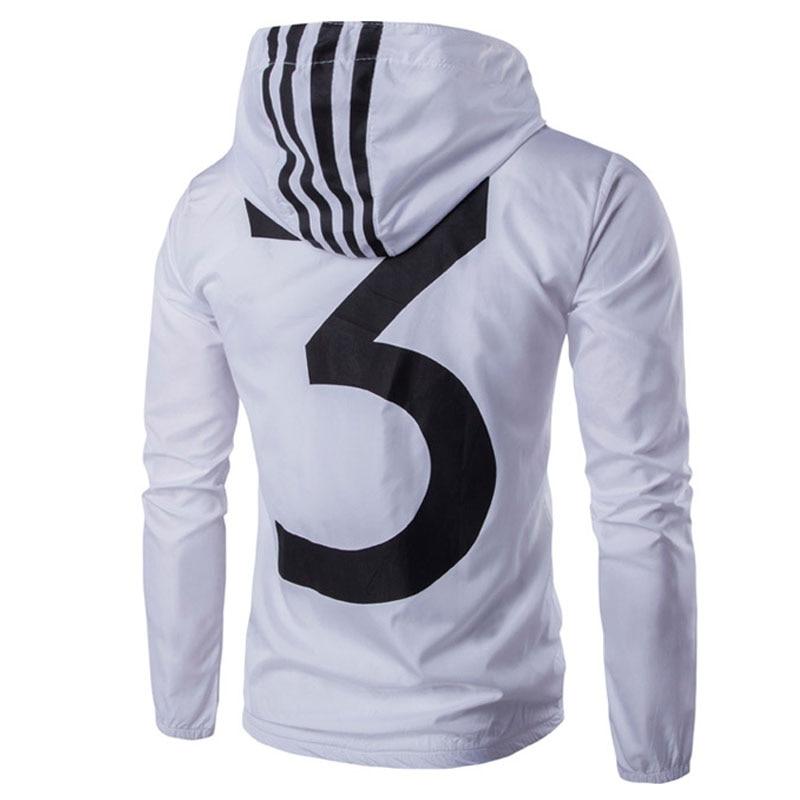 Black and White Men's Sweater - White Jacket  1