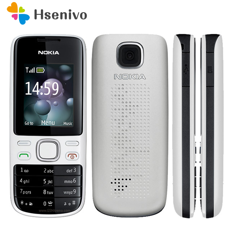 2690 Nokia original unlocked 2690 mobile phones internal 3MB GSM bar cellphones free shipping