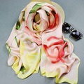 REAL SILK women SCARVES OL Long print 175cm kerchief Brand Shawl Stewardess style SILK SATIN SCARF WRAPS NEW Fall Winter
