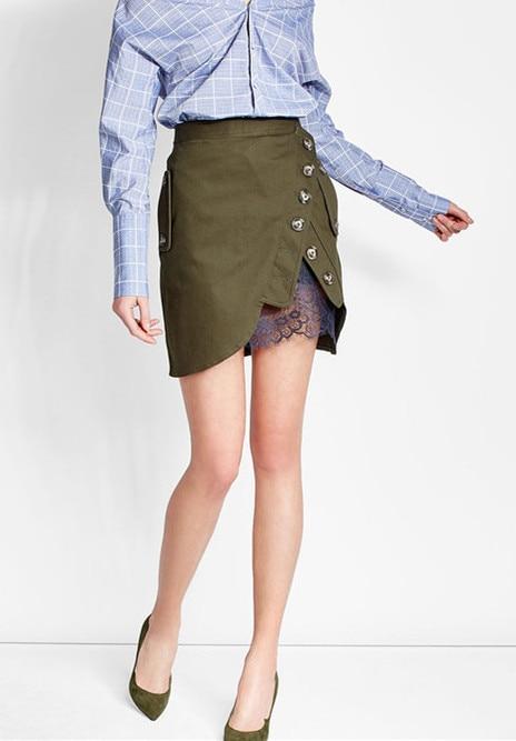 2017 New arrive green skirt