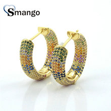 3Pairs,The Rainbow Series,The Annulus  Shape Women Fashion Earring .Gold Colors, Can Wholesale