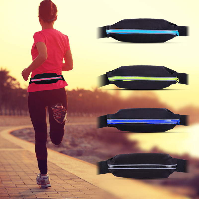 1PC Running Waist Bags Waterproof Multifunction Mobile Phone Bag Adjustable Ultralight Elastic Belts Bum Pack For Outdoor Sports