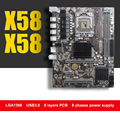 Brand New HUANAN X58 motherboard USB3.0 X58 LGA1366 motherboard for Xeon X5670 X5650 DDR3 2 channels tested before shipping