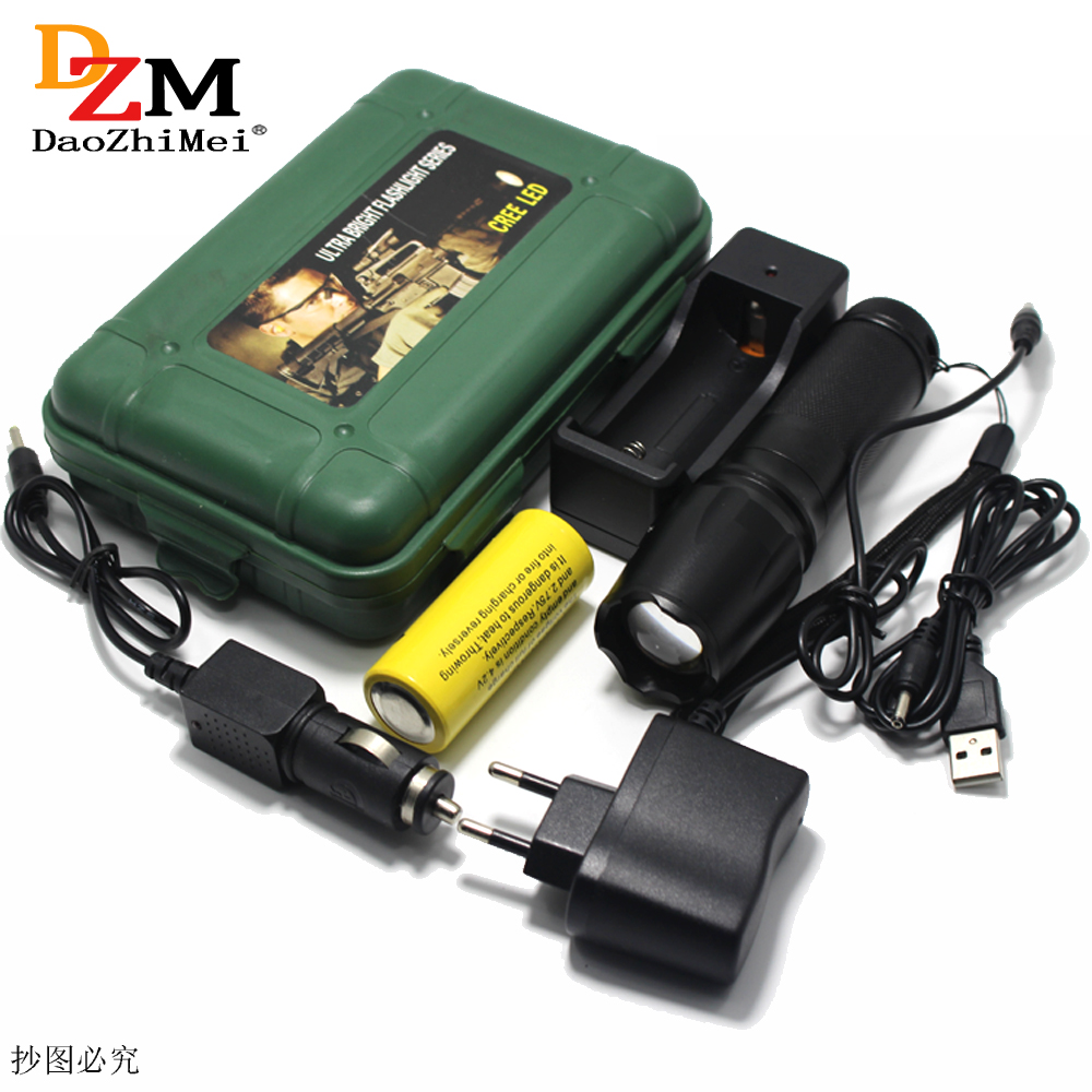 Zoomable IR 850nm 5w Night Vision OSRAM Infrared LED Flashlight Torch Lamp light led Camping Flashlight +Battery/Car charger+US