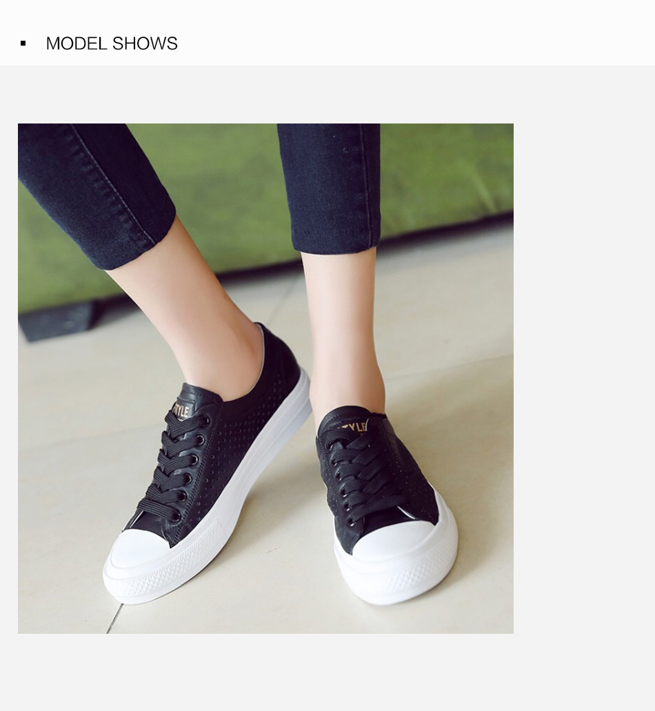 Donna-in 2019 New Women Flats Sneakers Genuine Leather Shoes Lace-up Cut-outs Flat Casual Women Shoes Hollow Summer Black White (2)