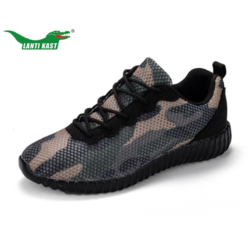 LANTI KAST נשים נעלי ריצה חדשה נשים נוחות נעלי ספורט ההסוואה רשת לנשימה קל משקל נעל ספורט נשי