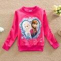 2016 весна дети девочки футболка мода эльза одежда девушки свитер футболка новый девочки с длинным рукавом пуловер топы