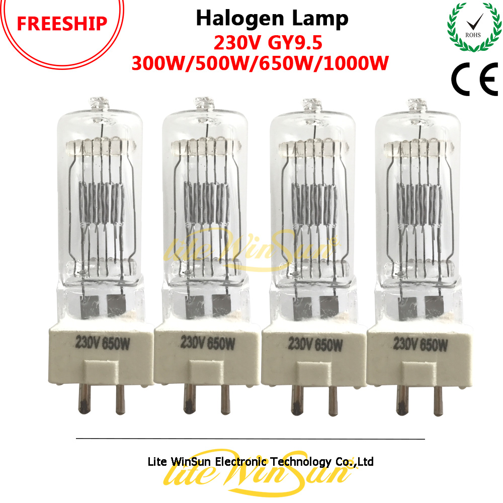 Litewinsune FREESHIP 300W 500W 650W 1000W GY9.5 3200K 230V 120V TV Studio Lighting Halogen Lamp