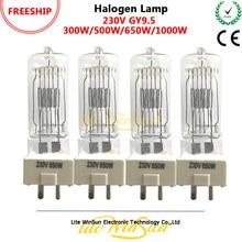 Litewinsune FREESHIP 300W 500W 650W 1000W GY9.5 3200K 230V 120V TV Studio Lighting Halogen Lamp
