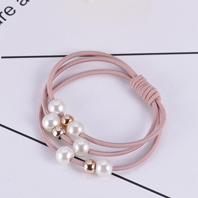 New Fashion Women Girls Pearl Elastic Hair Bands Ponytail Holder Gum For Hair Scrunchie Rubber Bands Headbands Hair Accessories