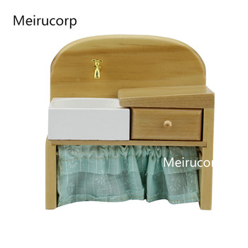 1/12 scale dollhouse miniature furniture Elaborate hand crafted Sink dollhouse 1 12 scale miniature furniture exquisite white hand piano and stool