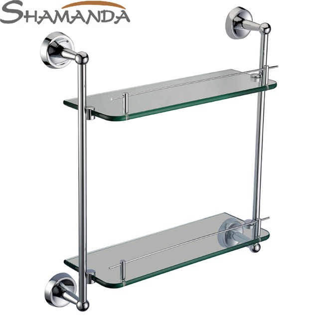 Real free verzending dubbele badkamer plank, effen gemaakt base + ...