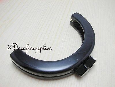Purse frame 5 inch x 2 3/4 inch ( 12.5 cm x 9.5 cm ) black Acrylic Resin C33