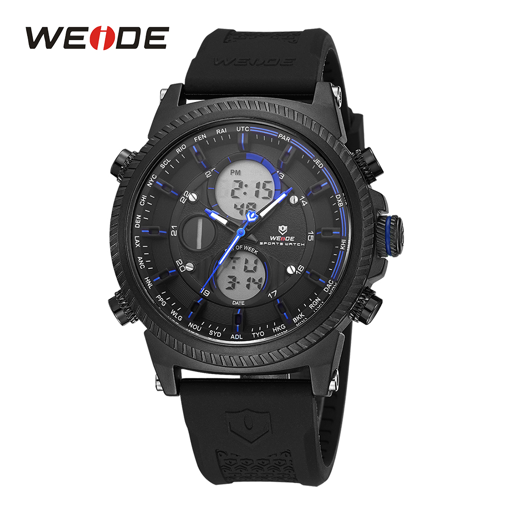 WEIDE Sport Watch Digital Date Day Quartz Stopwatch Alarm Silicone Band Military Wristwatch Clock Miesten kellot bayan kol saat weide mens black sports stopwatch quartz digital watch date day alarm silicone band buckle man wristwatches relojes para hombres page 4