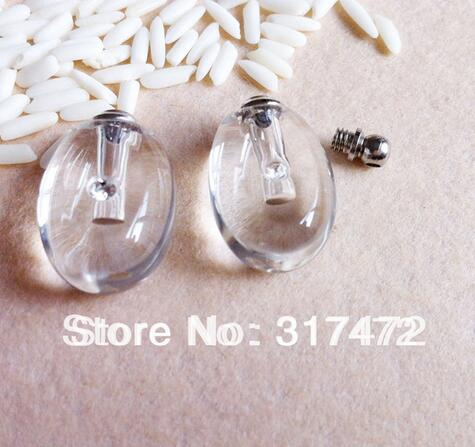 Glass Vial Pendant Perfume Botltle Screw Cap (many color can choose) 3836c40ce891