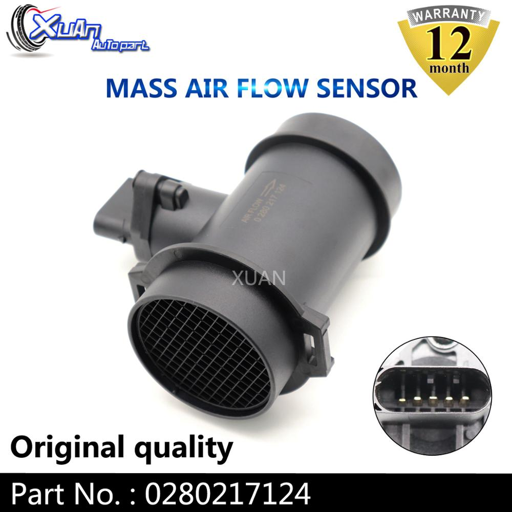 XUAN MAF MASS AIR FLOW METER SENSOR 0280217124 For BMW <font><b>3</b></font> <font><b>7</b></font> Series E36 E38 E46 316i 318i 740D Z3 1998-2002 image