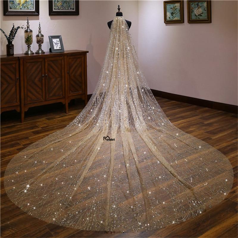2019 Hot Sale Simple 3 Meters Width 1.5 M 5M 3.5MBride Veils WithBeading 3 Layer Wedding Veil Weddings Accessories Wedding Veil