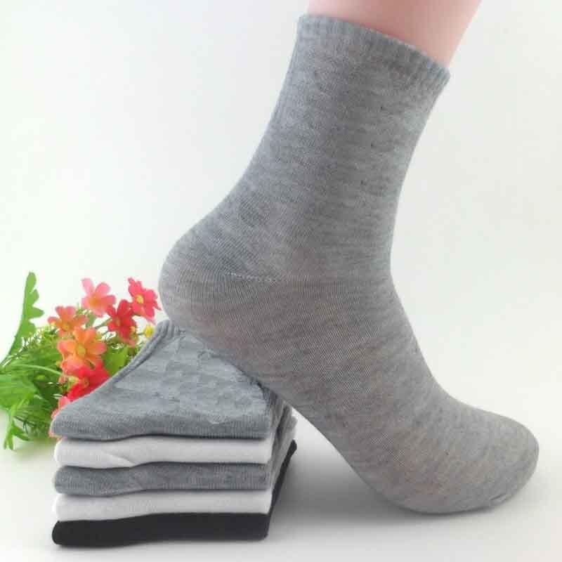 Fshion Leisure Solid Color Middle Tube Socks Cotton Socks Shallow Mouth Men Deodorization Absorb Sweat Socks Hosiery