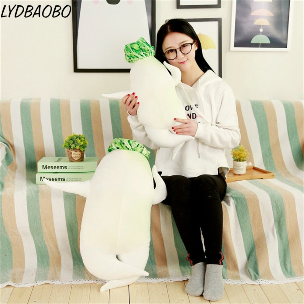 <font><b>60cm</b></font> Giant Simulation Radish Stuffed Soft Plush Toy Baby Kawaii Plant Radish Back Cushion <font><b>Sex</b></font> <font><b>Doll</b></font> Pillow Girl's Christmas Gifts image