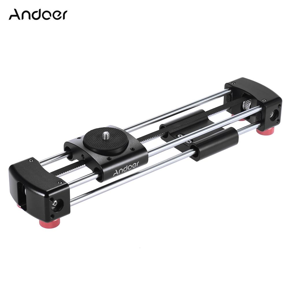 bilder für Andoer GT-V250 Mini Kamera Video Slider Manuelle Track Slider 365mm Doppelschleifer Abstand für GoPro Action Kamera Smartphone